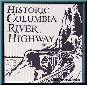 Hinweistafel zum Historic Columbia River Highway