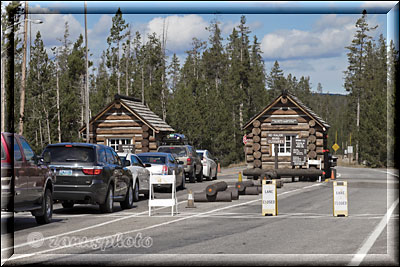 Park Entrance im Yellowstone Park