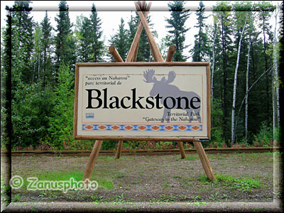 Infotafel am Eingang zum Blackstone Campground