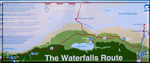 Infotafel The Waterfall Route