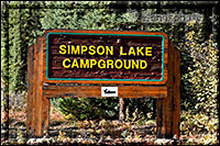 Infotafel für den Simpson Lake Campground