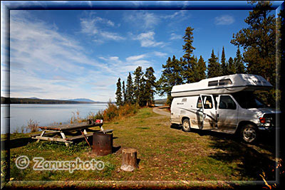 Campsite am Simpson Lake
