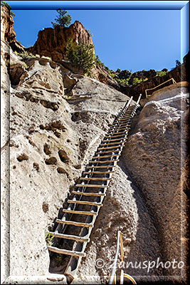 Längste Ladder im Bandelier Monument