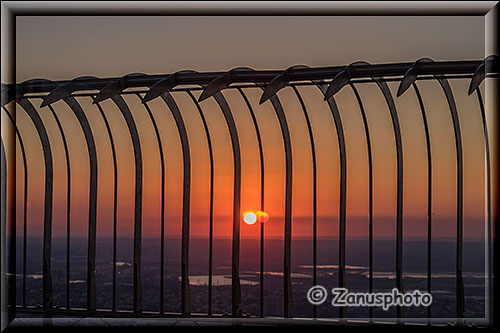 Sunset vom Empire State Building aus