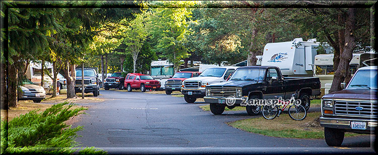 Voll belegter Campground am Labor Day Weekend