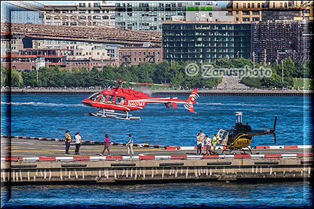 Startender Helicopter am East River