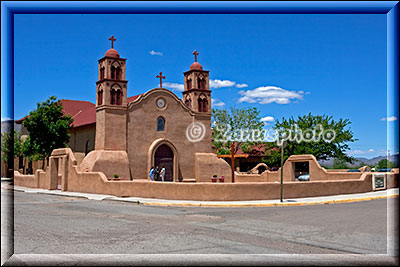 Old San Miguel Adobe Kirche in Socorro