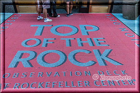 Teppich mit Info zum Top of the Rock