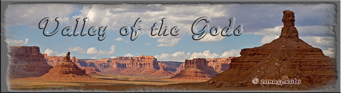 Titelbild der Webseite Valley of the Gods