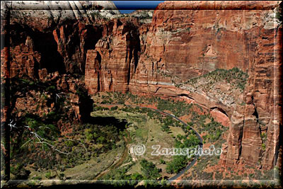 Blick ins Zion Valley