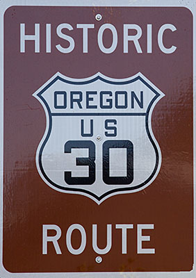 Hinweistafel Historic Highway 30